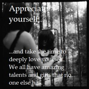 appreciate yourself